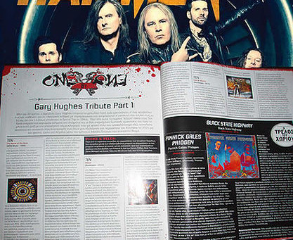 GARY HUGHES SPECIAL FEATURE ON METAL HAMMER MAGAZINE!