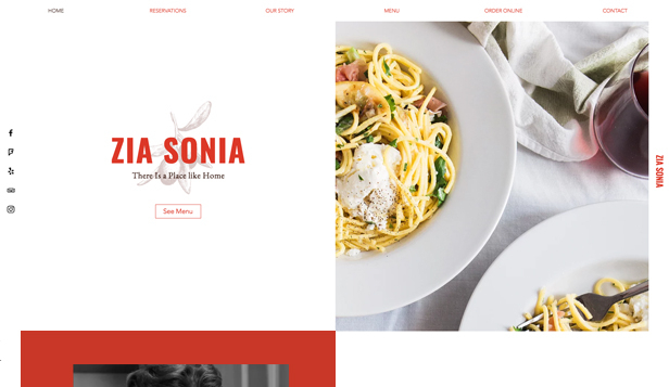 Restaurace website templates – Italian Cuisine