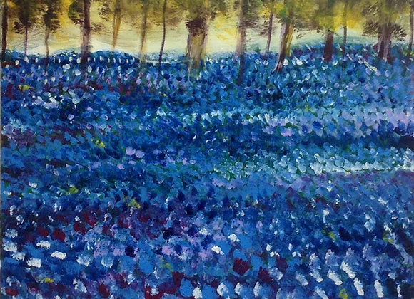 Bluebell Woods giclee print