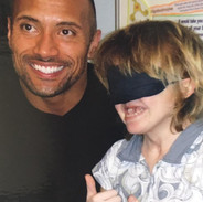 Hannah with The Rock at Great Ormond Street Hospital