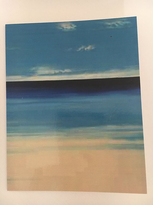 Pack of 4 'St Ives Beach' notelets