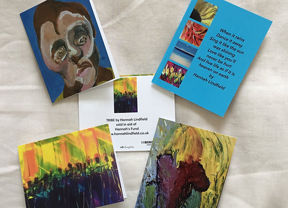 Pack of 4 Poem & People Notelets