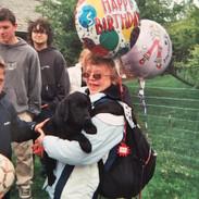 Hannah and balloons
