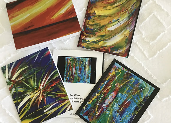 Pack of 4 Abstract Notelets