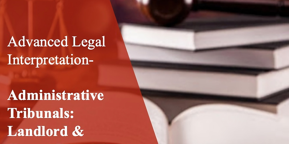 ALI 22 Administrative Tribunals: Landlord & Tenant Board B
