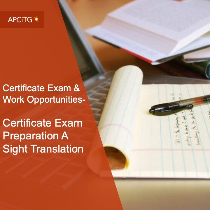 CEWO 1 Certificate Exam Preparation A Sight Translation