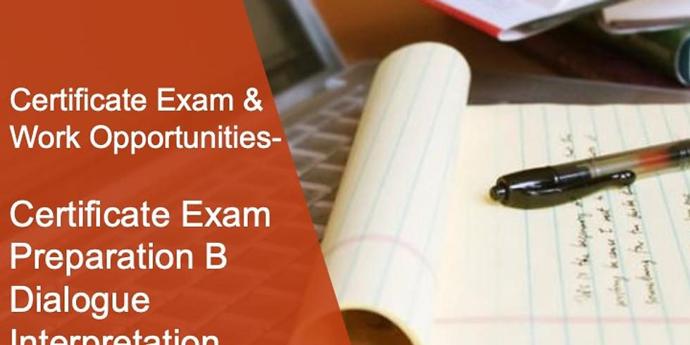 CEWO 2 Certificate Exam Preparation B Dialogue Interpretation