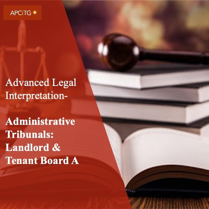 ALI 21 Administrative Tribunals: Landlord & Tenant Board A