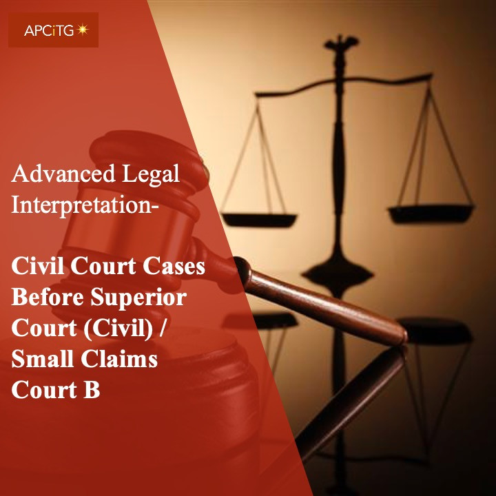 ALI 18 Civil Court Cases Before Superior Court (Civil) / Small Claims Court B