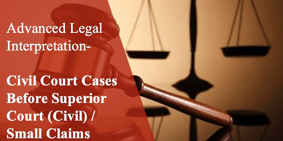 ALI 18 Civil Court Cases Before Superior Court (Civil) / Small Claims Court B