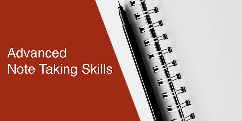 Advanced Note Taking Skills