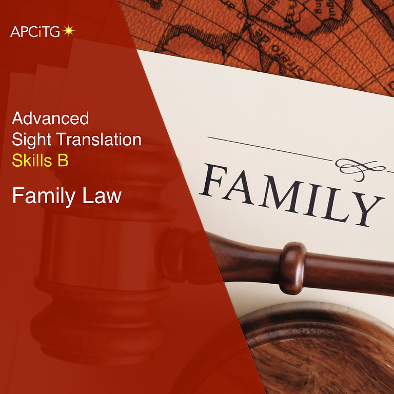 Family Law Common Document Sight Translation
