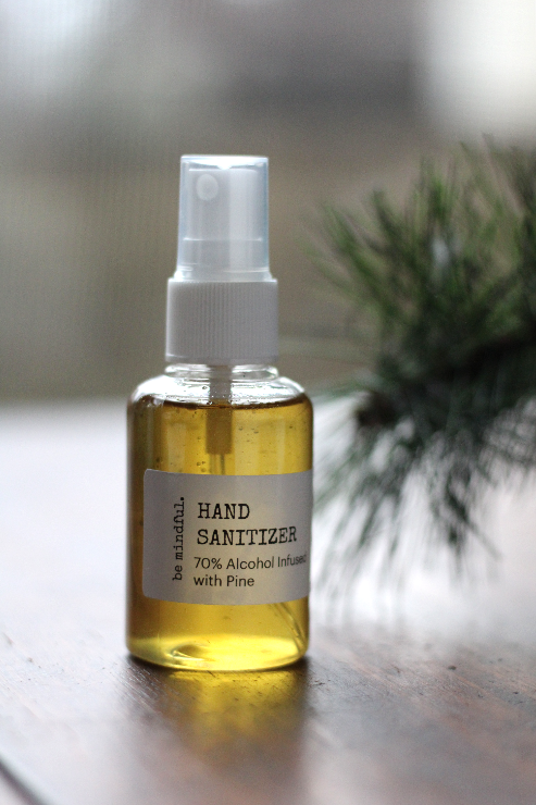 Pine or Orange Infused Hand Sanitizer