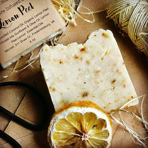 Lemon Peel Infused  Soap