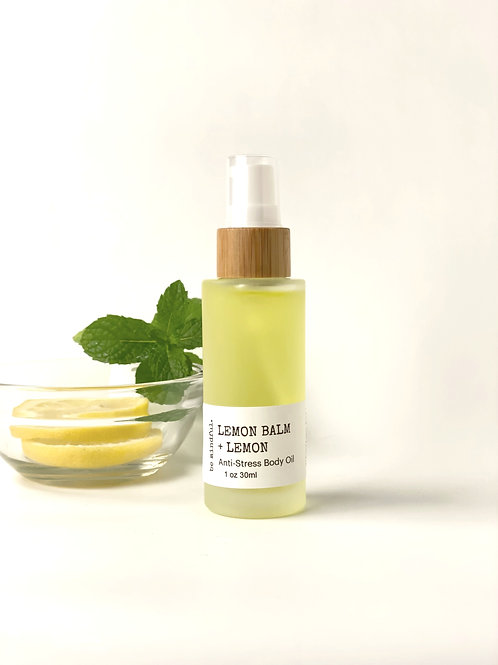 Calming Lemon Balm + Lemon Body Oil