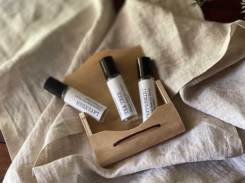 Simple Oil Blend Gift Set (Lavender, Peppermint, Tea Tree)