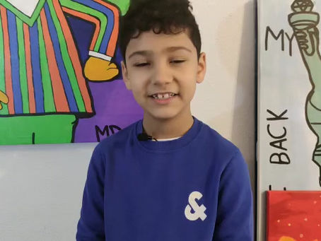 This 8 year old Artist is a real rising star!