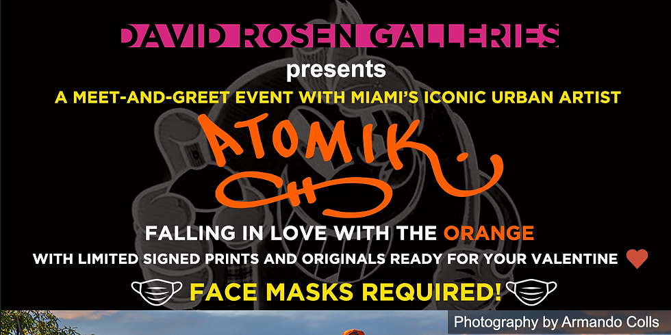 Tomorrow ! ATOMIK meet and greet at our Lincoln Road Gallery.