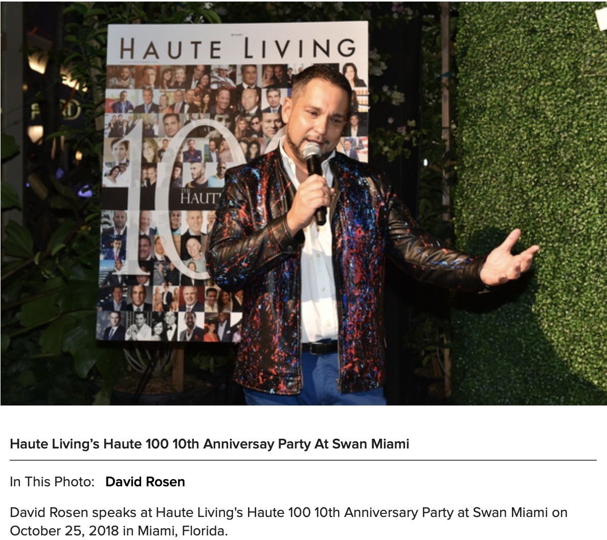 Haute Living Top 100 People Event.