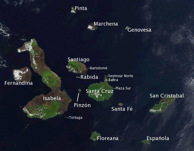 Map Galápagos Islands