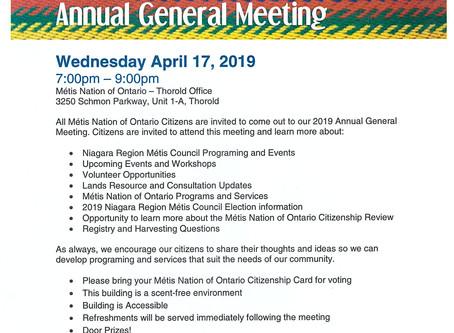 Niagara Regional Metis Council AGM