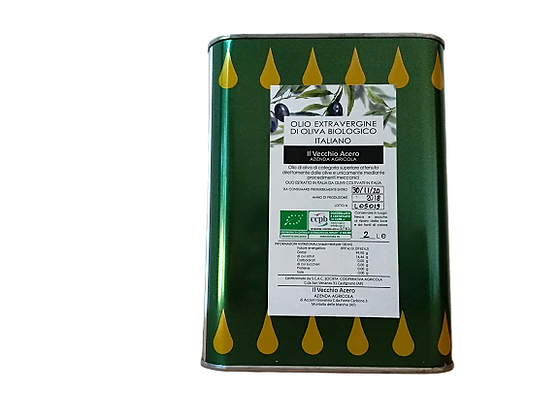 OLIO EXTRAVERGINE DI OLIVA BIOLOGICO - lattina 2 litri