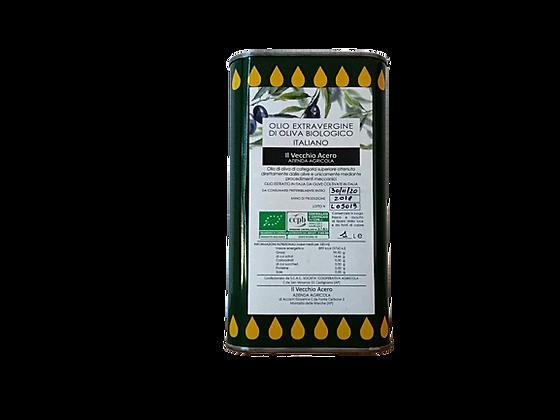 OLIO EXTRAVERGINE DI OLIVA BIOLOGICO - lattina 1 litro