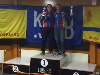 Herman Haamberg en Paul Aarninkhof schaatskampioenen in de Leisure World Competitie
