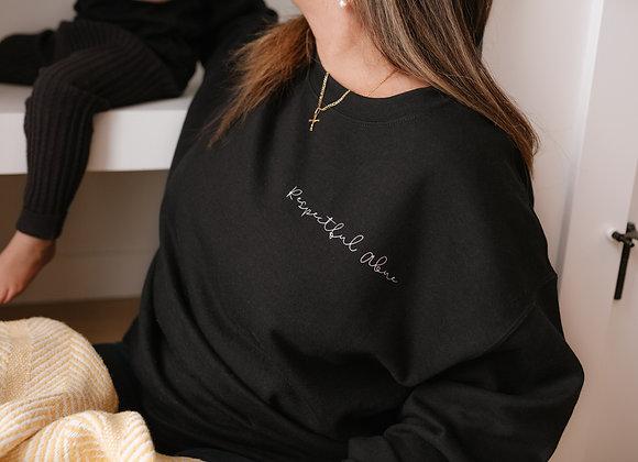 Personalized Respectful Crew Sweater