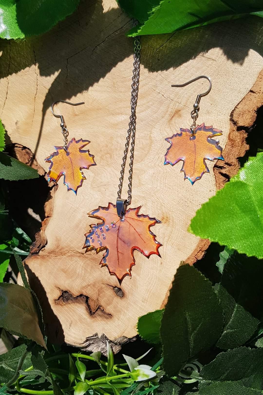 feuilles holographique