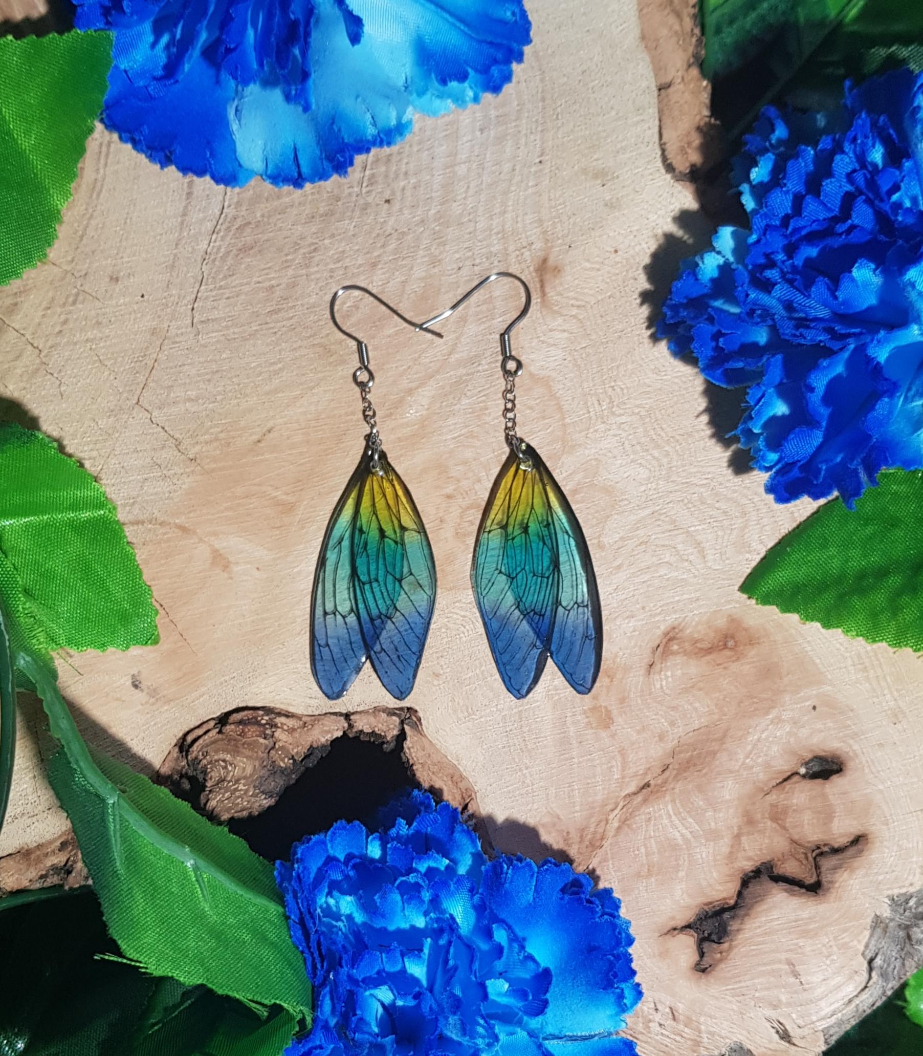 boucles d'oreilles ailes de fée