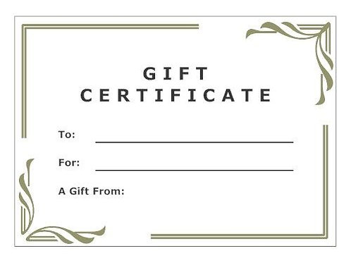 Gift Certificate 🎁