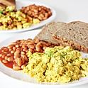 Scrambled Eggs & Beans On Toast