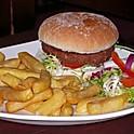 Vegetarian Burger,Chips & Salad