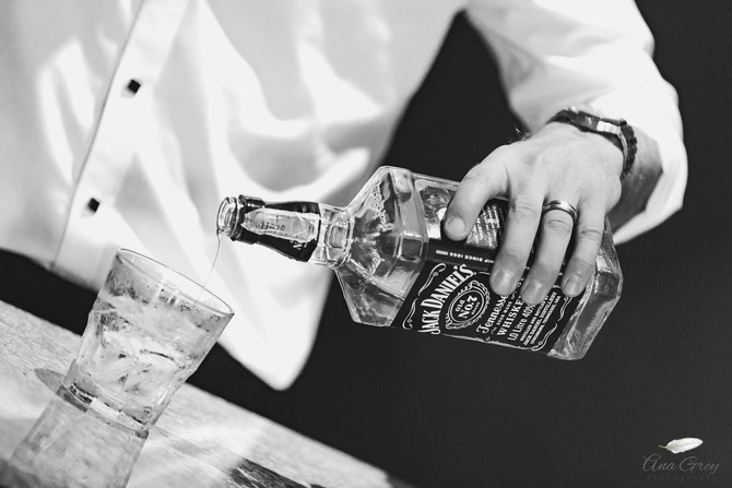 Black & White photoshoot for hotel Whisky Bar promotion
