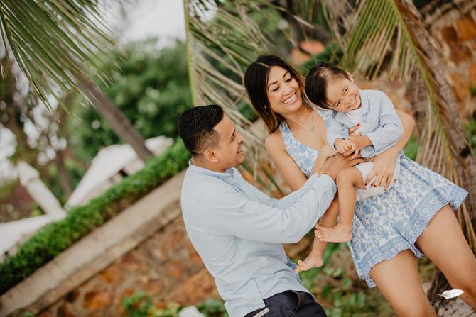 Family shoot at Intercontinental Hua Hin resort