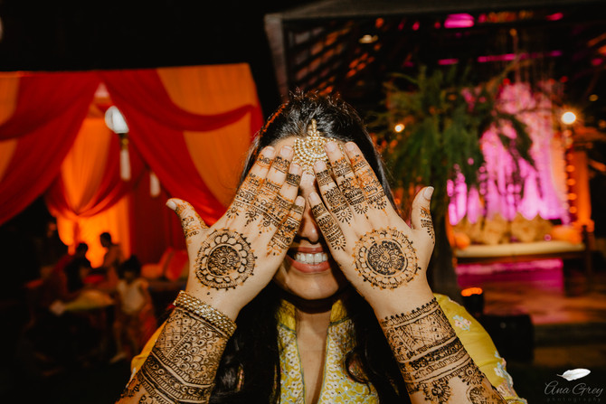 Mehndi Party, indian pre-wedding party at Chiang Mai.