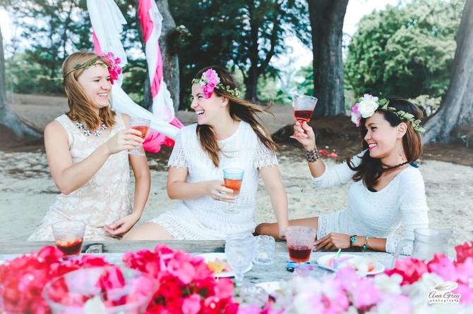 Bohemian birthday party picnic