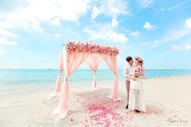 Samui wedding at Lipa Noi beach A&A. Beach wedding at Samui