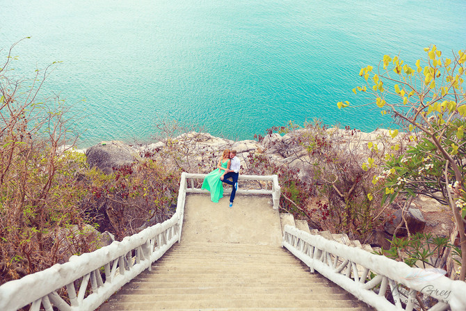 The engagement beach, Koh Samui Thailand.Honeymoon Engagement - Koh Samui Wedding Photographer
