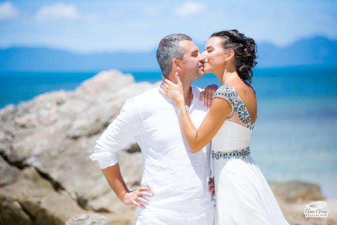 Bohemian beach white wedding at Koh Samui Thailand