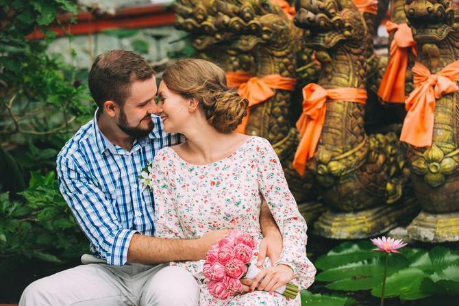 Artem & Helen's bohemian beach wedding on Koh Samui