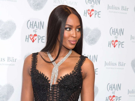 Naomi Campbell glows in Samer Halimeh NY Jewelry at Chain of Hope Gala Ball