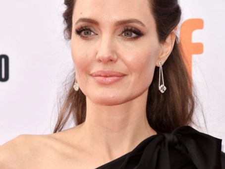 Angelina Jolie Wears Samer Halimeh Diamond Drop Earrings to TIFF