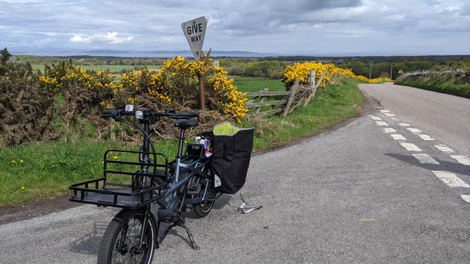 E-cargo bike on tour