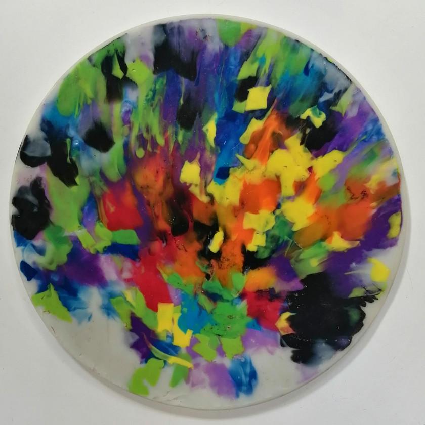 Multicoloured paint splash