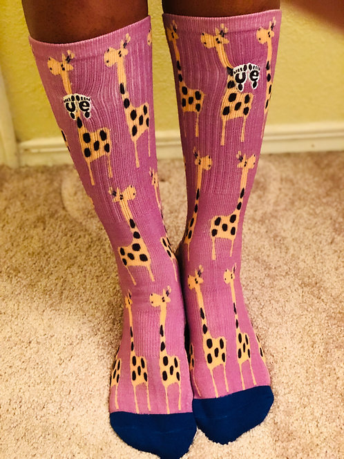 "Unisex Dress Sock ""Giraffe"" Limited Edition"