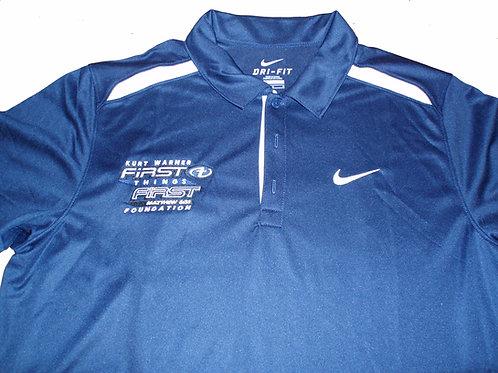 Men's Polyester Blue Golf Shirt