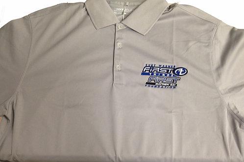 Men's Polyester Gray Golf Shirt