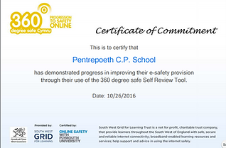 Pentrepoeth Primary School - Online Safety Certificate of Commitment